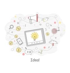 Idea Generation Banner vector image