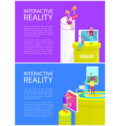 Interactive reality gadgets vector