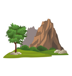 isolated nature landscape vector image