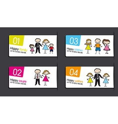labels with families vector image