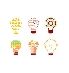 light bulbs abstract design with colorful vector image