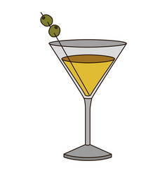 light coloured silhouette of drink cocktail glass vector image