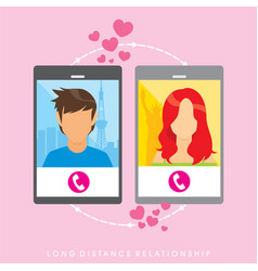 long distance relationship - poster vector image
