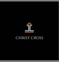 Luxury initial letter cc christian cross religion vector