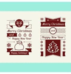 Merry Christmas invitation typographic design vector