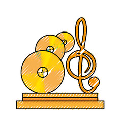 music trophy award vector image