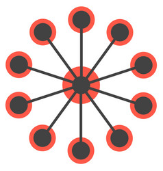 network concept circles single icon vector image