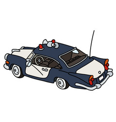 old american police car vector image