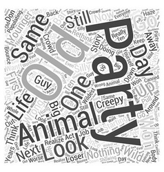 Party animal Word Cloud Concept vector