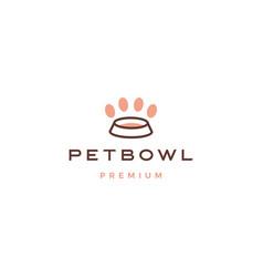 Pet bowl logo icon vector