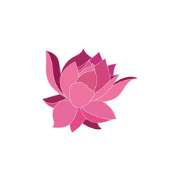 pink flower vector image