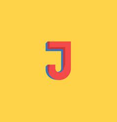 pop art style logo j letter halftone colors vector image