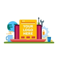 Programming Tools - flat design illistration with vector