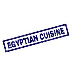 Rectangle grunge egyptian cuisine stamp vector