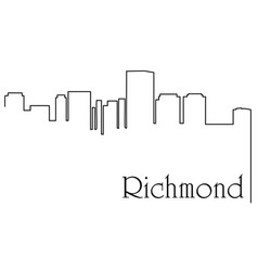richmond city one line drawing vector image