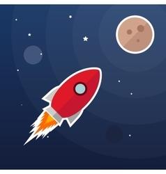 Rocket galaxy background vector