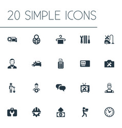 Set of simple support icons vector
