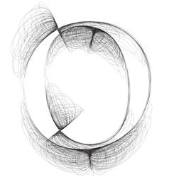 Sketch font Letter o vector