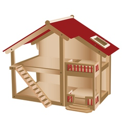 Small playhouse for kids vector