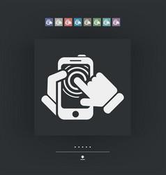 smartphone touchscreen icon vector image
