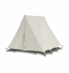 Tent model isolated on white - realistic vector
