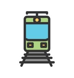 Train Tracks vector