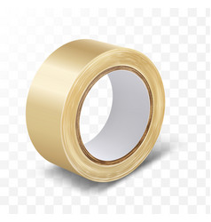 Transparent duct roll adhesive tape vector