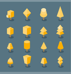 trees set isometric vector image vector image