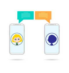 unknown phones chating vector image