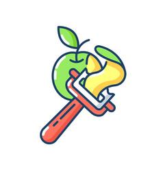 Vegetable peeler rgb color icon vector