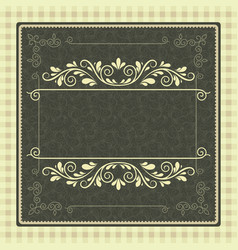 Vintage background antique greeting card vector