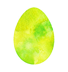 watercolor isolated egg vector image