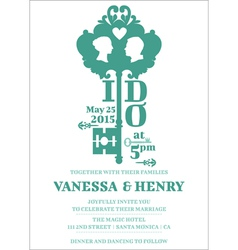 Wedding invitation card vector