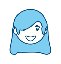 woman adult young head vector image