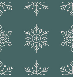 year seamless pattern snowflakes vector image