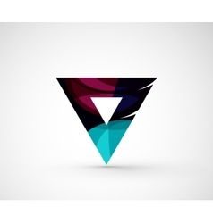 Abstract geometric company logo triangle arrow vector image