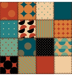 Quilting design in retro style vector image vector image