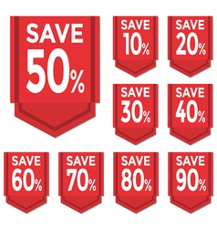 Save percent sticker price tag vector image vector image