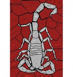 scorpion design vector image vector image
