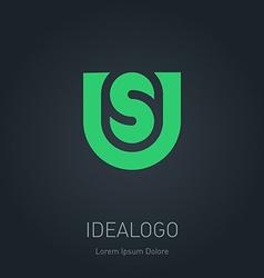 US initial logo US initial monogram logotype vector image