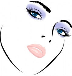 beauty girl vector image vector image