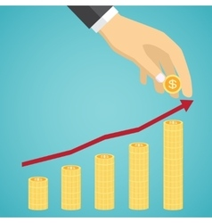 financial growth concept vector image