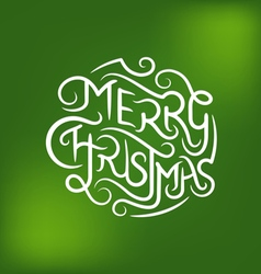 Merry Christmas Type 3 vector image vector image