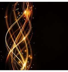 abstract wavy pattern with stars vector image vector image