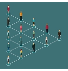 Concept of network marketing vector