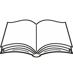 opened book vector image vector image