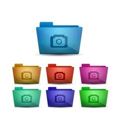 photo folder vector image vector image