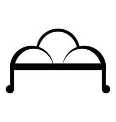 Retro sofa icon simple style vector image vector image