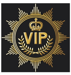 VIP design - very important person sign vector image vector image