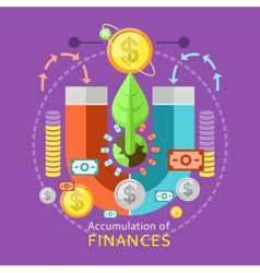 Accumulation of Finances Concept vector image